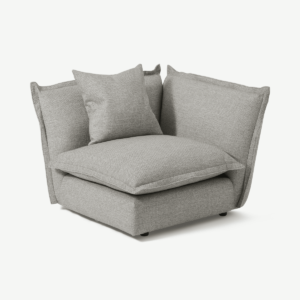 Fernsby Corner Modular Chair, Silver Recycled Weave