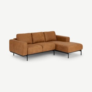 Jarrod Right Hand Facing Chaise End Corner Sofa, Outback Tan Leather