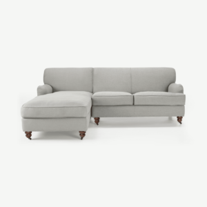 Orson Left Hand Facing Chaise End Corner Sofa, Chic Grey