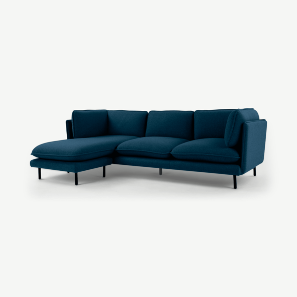 Wes 3 Seater Chaise End Corner Sofa, Elite Teal